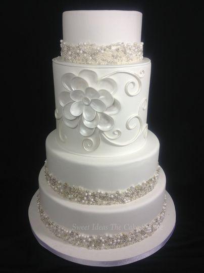 Sweet Ideas The Cake Shoppe Wedding Cake Robert La Weddingwire