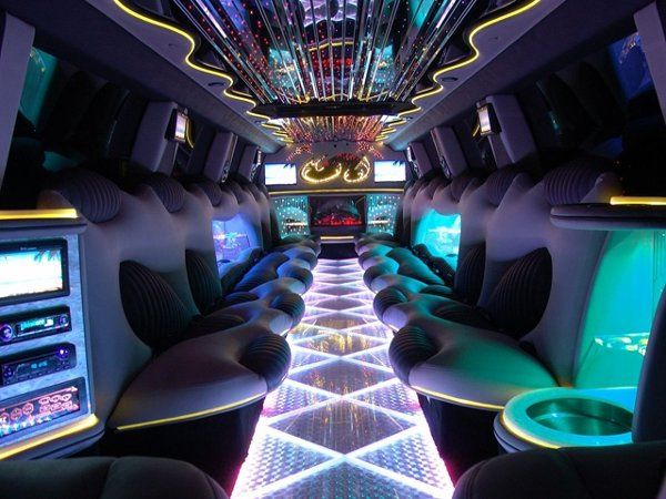 Inside pic of another one of our custom limos