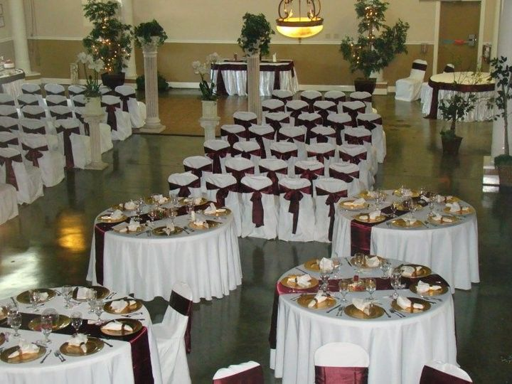 Ceremony and reception setup