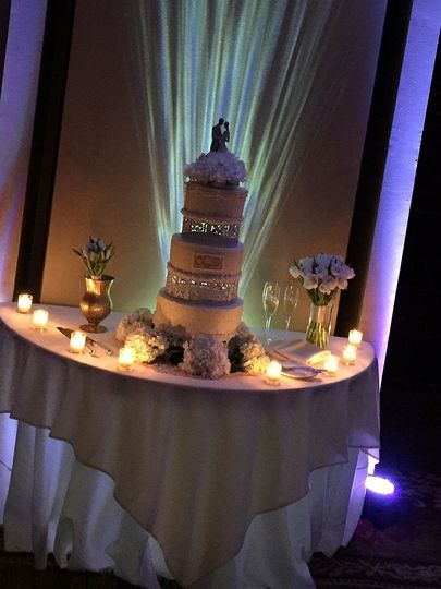 Creative lighting for cake table
