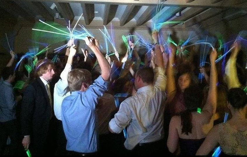 Add glow sticks to our lights and the party energy soars