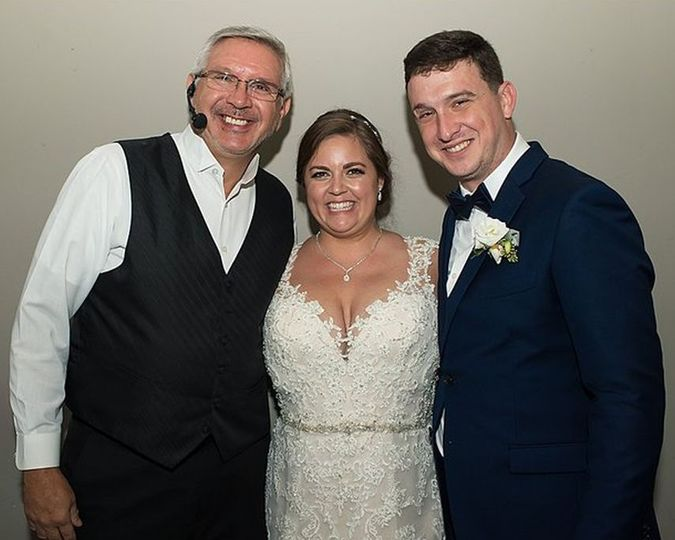 DJ Bill with the happy couple