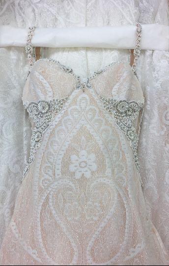 Beautiful Galia Lahav gown. Cleaned, pressed, & preserved