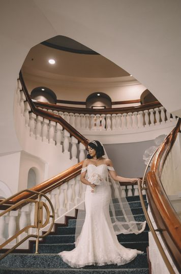 Bride at our staircase