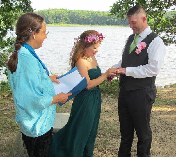 Beautiful wedding in nature