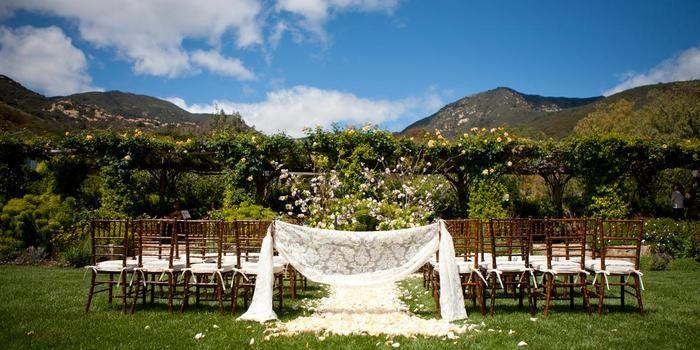 Floral wedding ceremony area