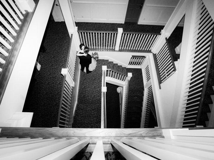 Tmx 1458231878649 Bride And Groom Stairs Black And White Anacortes, Washington wedding venue