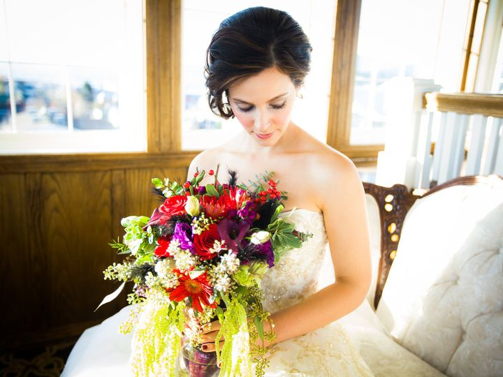 Tmx 1458232191887 Bride With Flowers In Sunroom Anacortes, Washington wedding venue