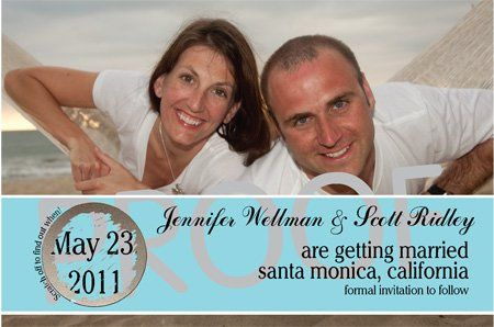 """4"""" x 6"""" Single Sided Custome Scratch Off Wedding Save the Date Design 7"""