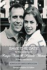 """4"""" x 6"""" Single Sided Custome Scratch Off Wedding Save the Date Design 9"""