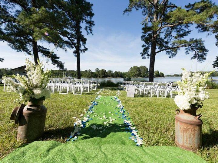 Tmx 1388695970506 Ivory Blue Aisl Binghamton wedding florist