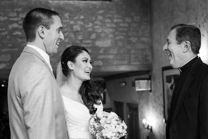 Rev. Dick at the wedding of Brian and Lisa.