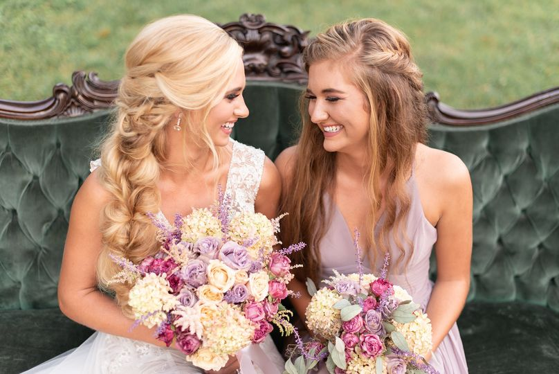 Bride and the maid of honor