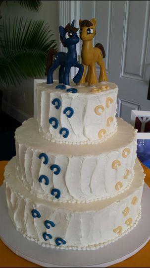 just desserts by linda wedding cake sykesville md weddingwire. Black Bedroom Furniture Sets. Home Design Ideas