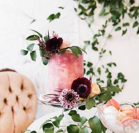 Marbled floral