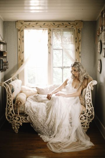 Bride resting