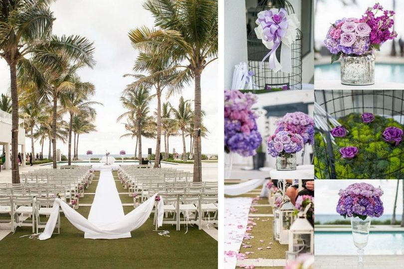 bbc cabanas ceremony ceremony decor silver lanterns palm beach photography inc