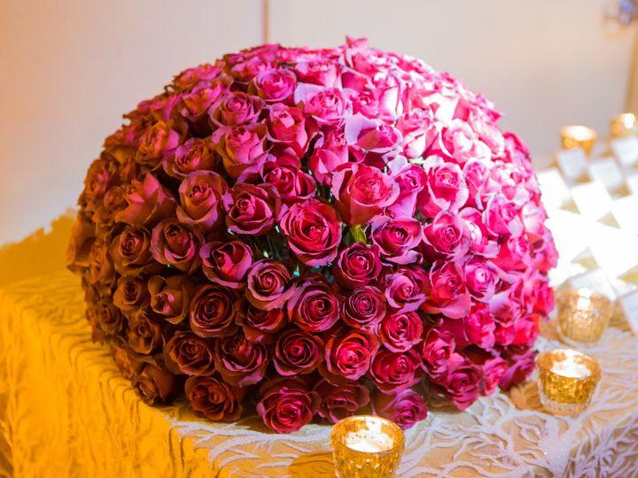 Tmx Coral Sequin Champagne Linen Gold Votives Pink Rose Ball Centerpiece  51 66526 1565036964 Boca Raton, Florida wedding florist