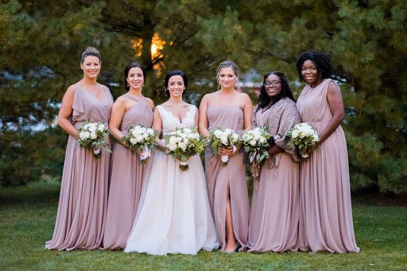 Blush pink dresses