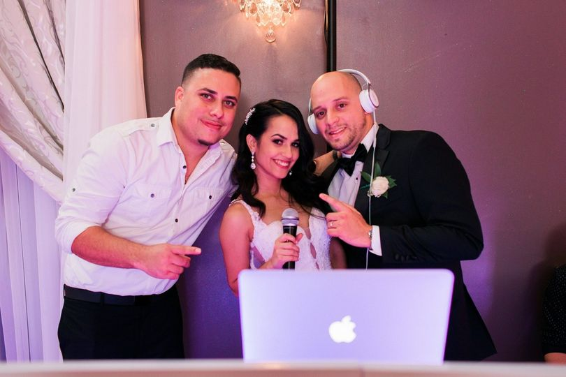The couple with the DJ