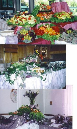 Catered service set up