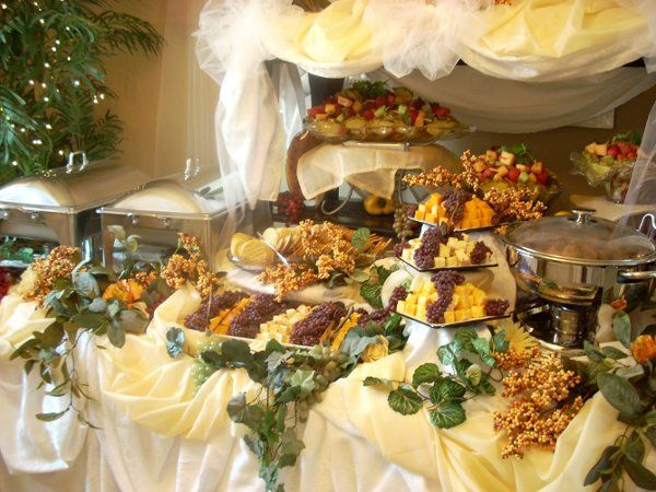 1 of many different types of Buffet Set up's.  See more below for catered events
