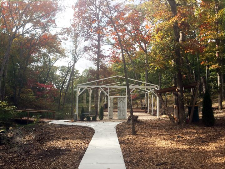Long view Wedding in the Woods