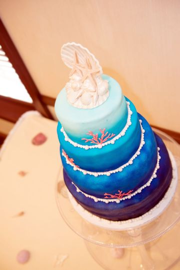 Ombre Under the sea themed cake