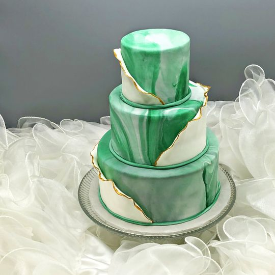 Emerald elegance with gold