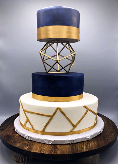 Ultra-modern geometric cake
