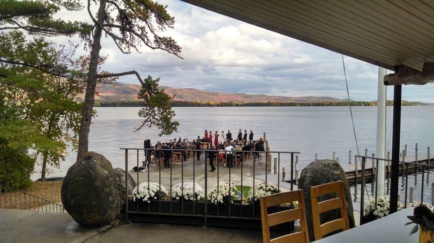 Lake George wedding ceremony