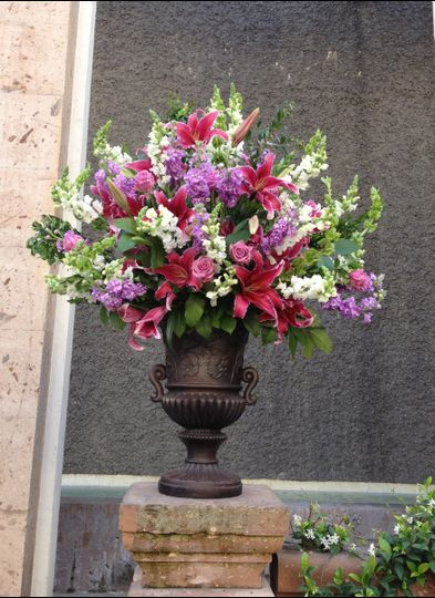 Outdoor floral arrangement
