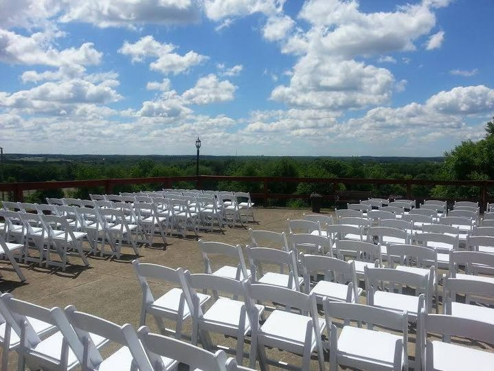 Ceremony set up at orchard lane events