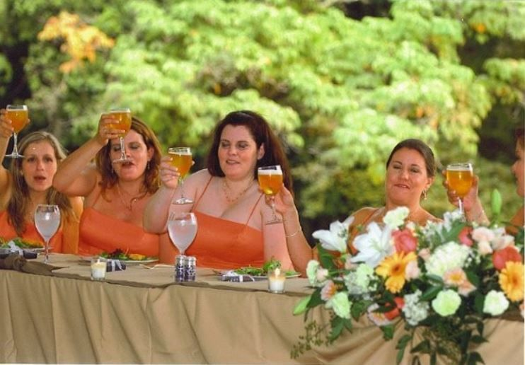 Toast from the bridesmaids