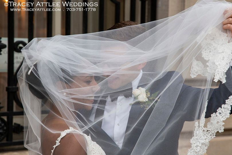 DC Wedding Couple in Wind