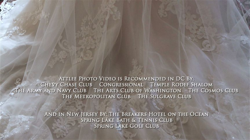 DC NJ Wedding Photo Video List