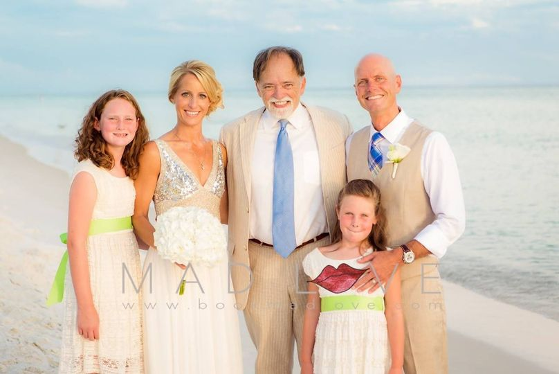Christi and Rob Dee with Mia and Maren, August 4, 2014.