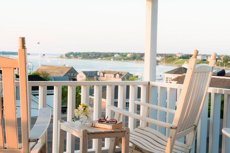 luxury suite porch harbor view