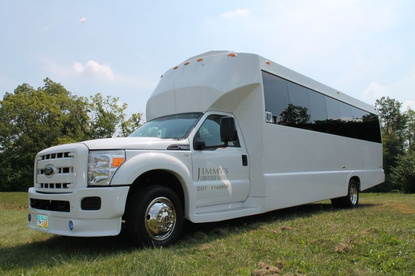 F550 White Limo Bus, same features and benefits as our Black Limo Bus. This vehicle features a rear...