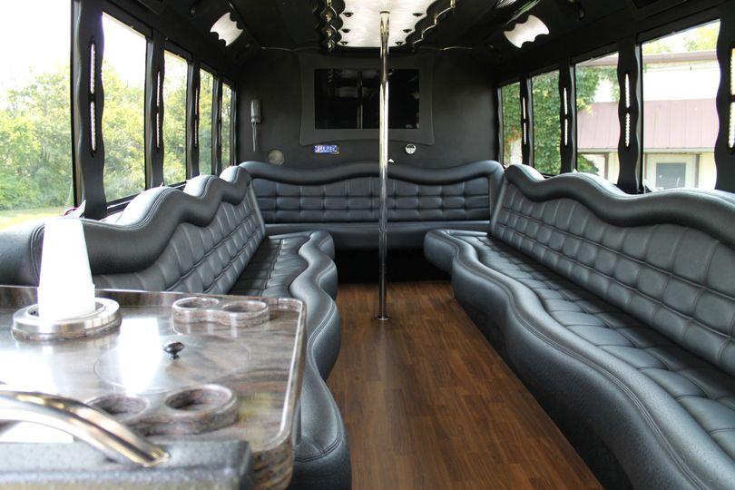 F550 White Limo Bus Interior