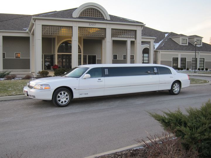 8 passenger White Lincoln Town Car Limousine. This traditional and elegant limousine is perfect for...