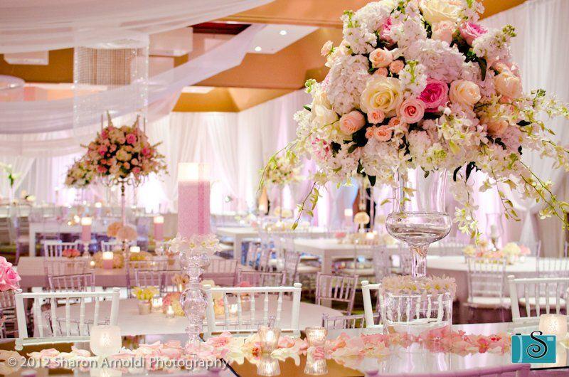 Decorated ballroom shot