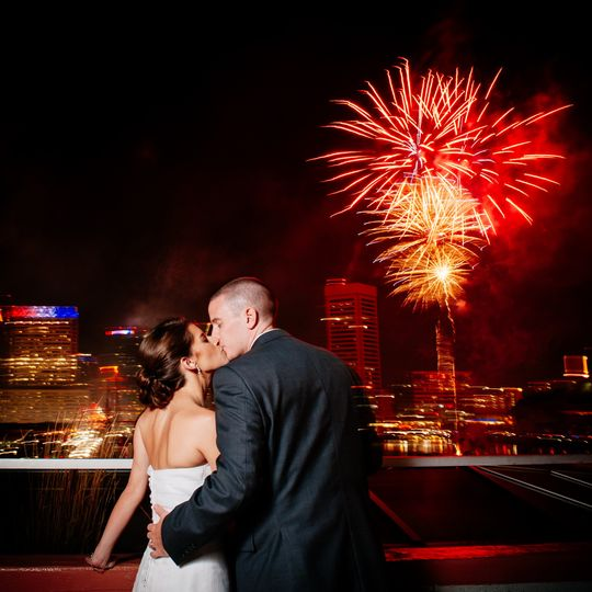 Baltimore wedding with fireworks