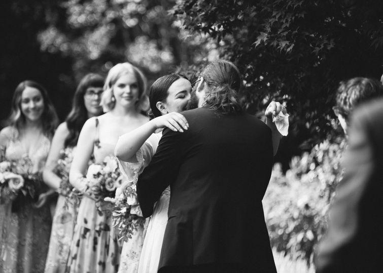 First Kiss | Garden Wedding