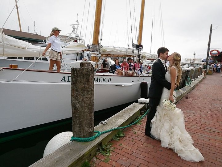 Tmx 1403714379672 Kissing By Sailboat New Bedford wedding videography