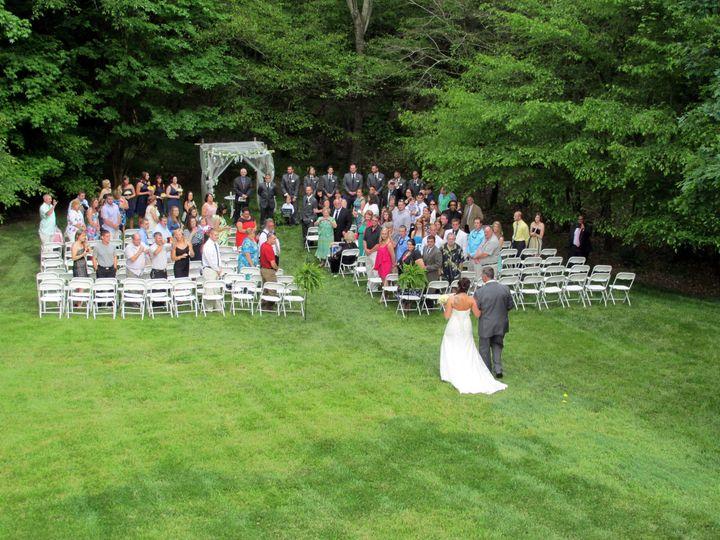 back yard wedding ceremony