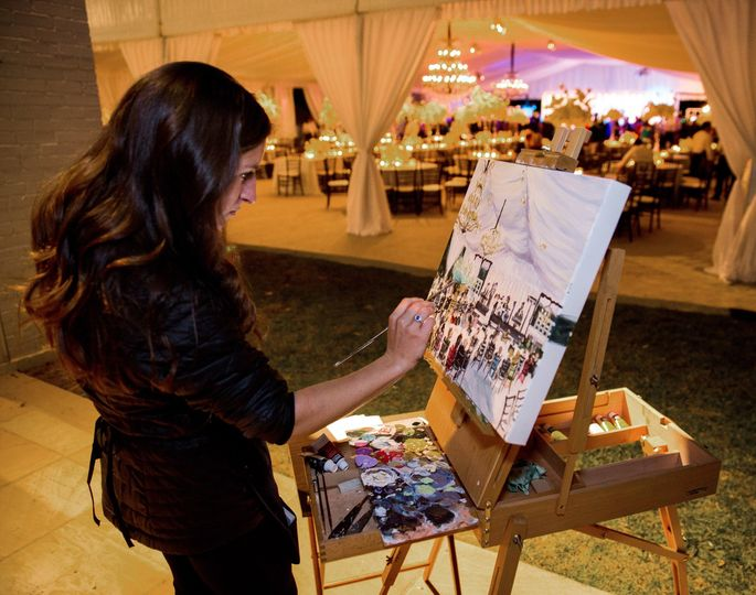 Live painting the reception
