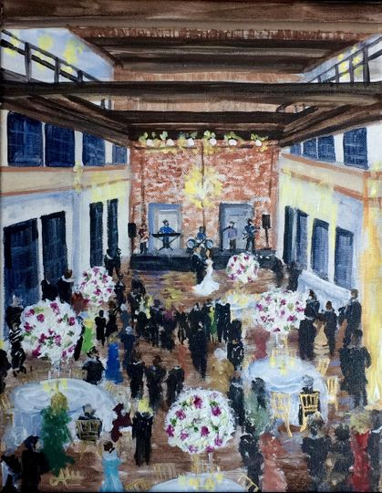 Reception hall painting