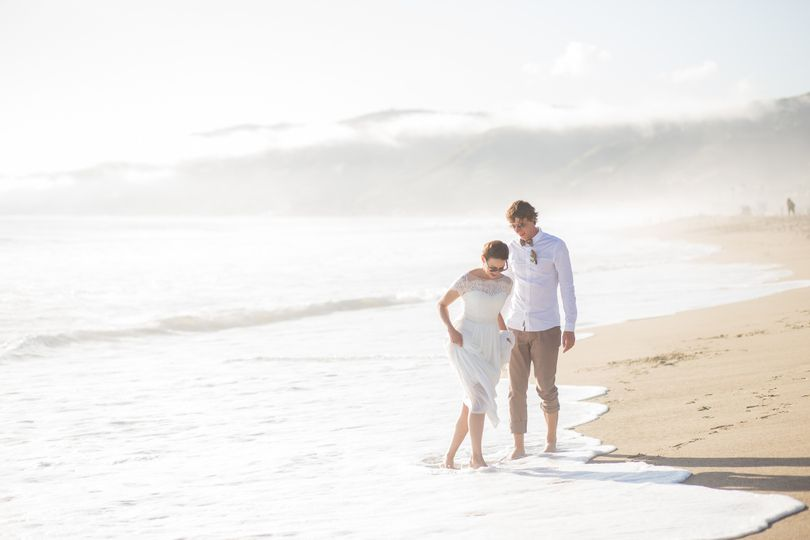 The beach across the street from Malibu Seaside Weddings. After the ceremony, our photographer took...