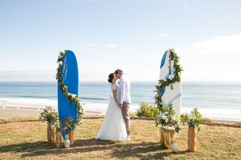 We like special requests and this couple decided to use surfboards we had on hand for their wedding...